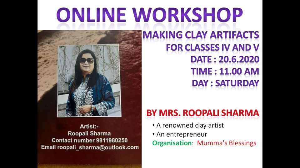 Online Workshop on making Clay Art Effects was organized by Ramjas School, RK Puram, New Delhi
